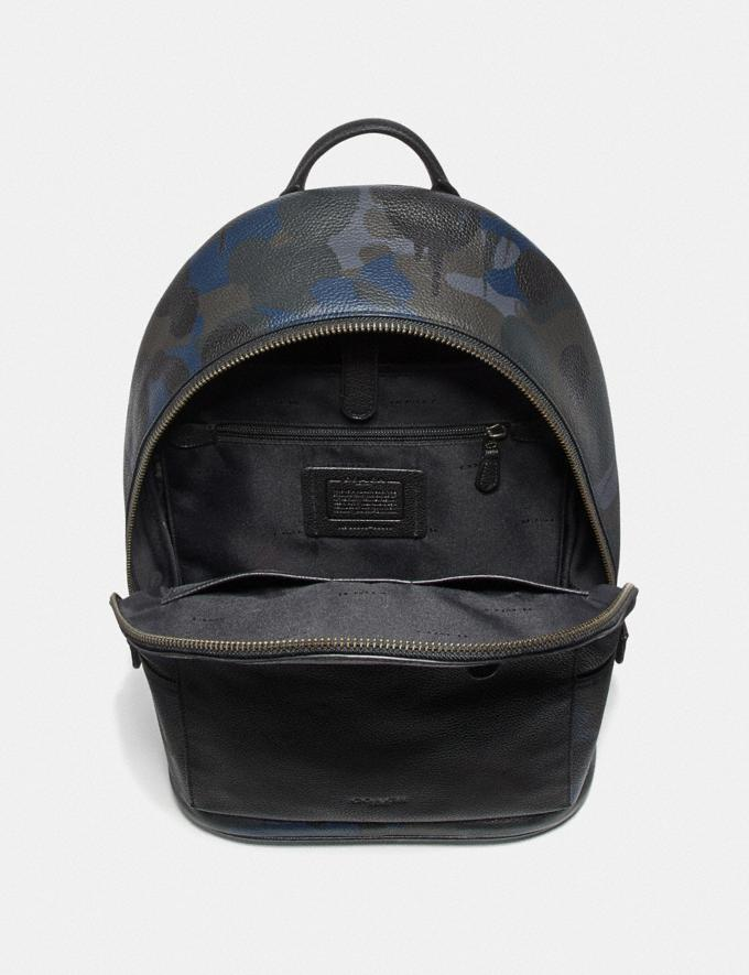 Coach Metropolitan Soft Backpack With Wild Beast Print Blue Wild Beast/Black Copper Men Bags Backpacks Alternate View 2