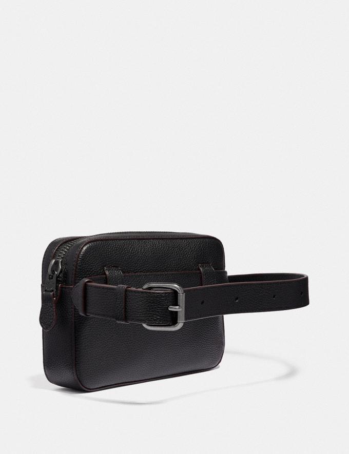 Coach Borsa a Cintura Metropolitan Morbida Nero/Nickel Nero Anticato Uomo Borse Cartelle Visualizzazione alternativa 1
