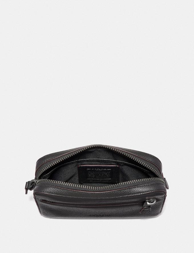 Coach Borsa a Cintura Metropolitan Morbida Nero/Nickel Nero Anticato Uomo Borse Cartelle Visualizzazione alternativa 2