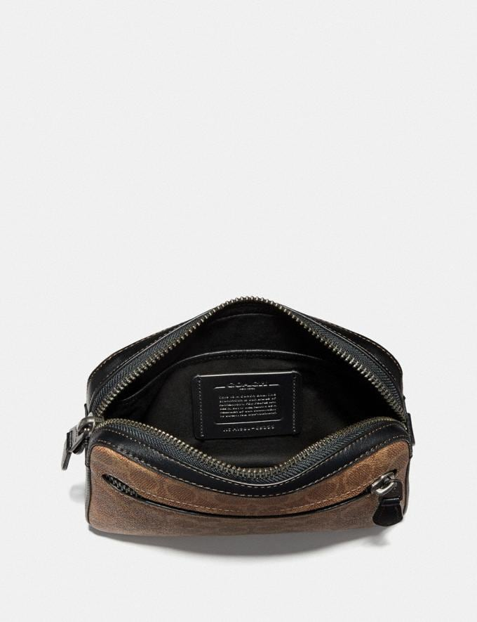 Coach Metropolitan Soft Belt Bag in Signature Canvas Khaki/Black Copper Men Bags Belt Bags Alternate View 2