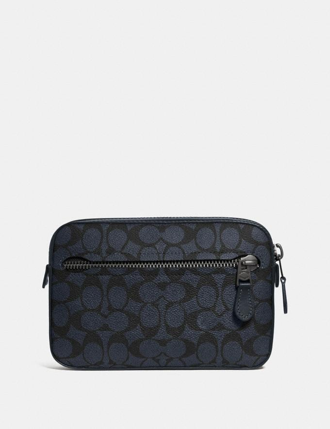 Coach Metropolitan Soft Belt Bag in Signature Canvas Midnight Navy/Black Antique Nickel Men Bags View All