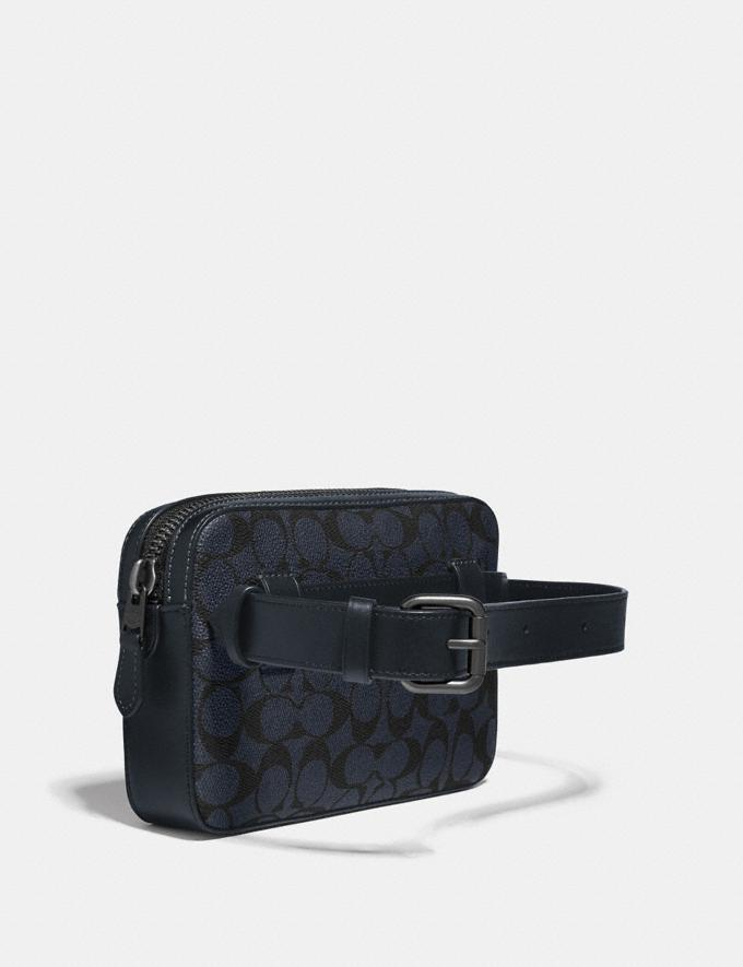 Coach Metropolitan Soft Belt Bag in Signature Canvas Midnight Navy/Black Antique Nickel Men Bags View All Alternate View 1