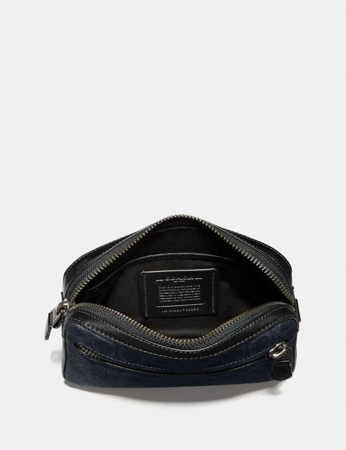 Coach Metropolitan Soft Belt Bag in Signature Canvas Midnight Navy/Black Antique Nickel Men Bags View All Alternate View 2