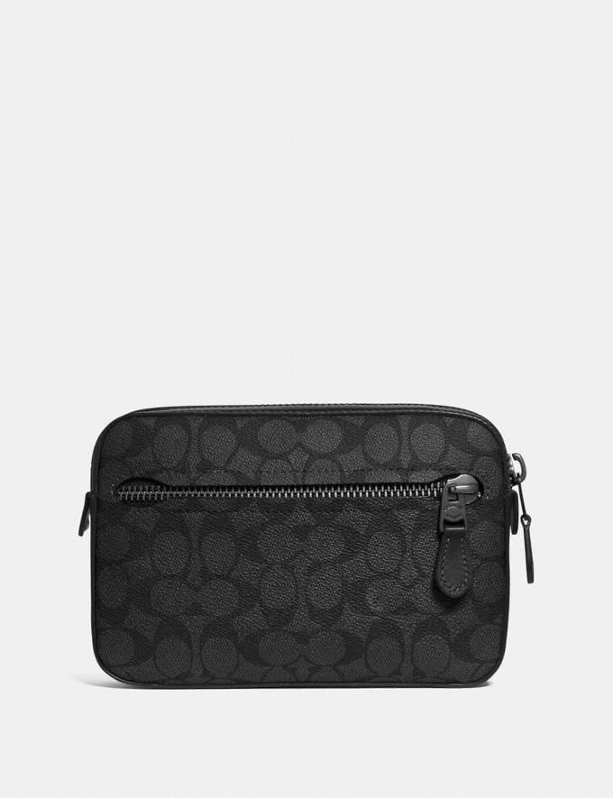 Coach Metropolitan Soft Belt Bag in Signature Canvas Charcoal/Black Antique Nickel New Featured Online Exclusives
