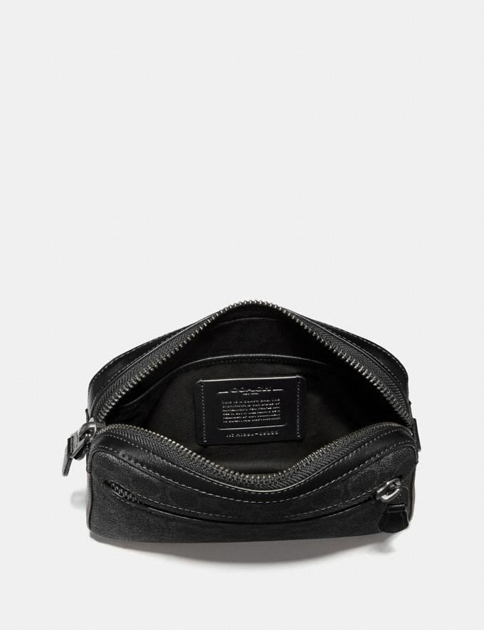 Coach Metropolitan Soft Belt Bag in Signature Canvas Charcoal/Black Antique Nickel Men Bags Belt Bags Alternate View 2