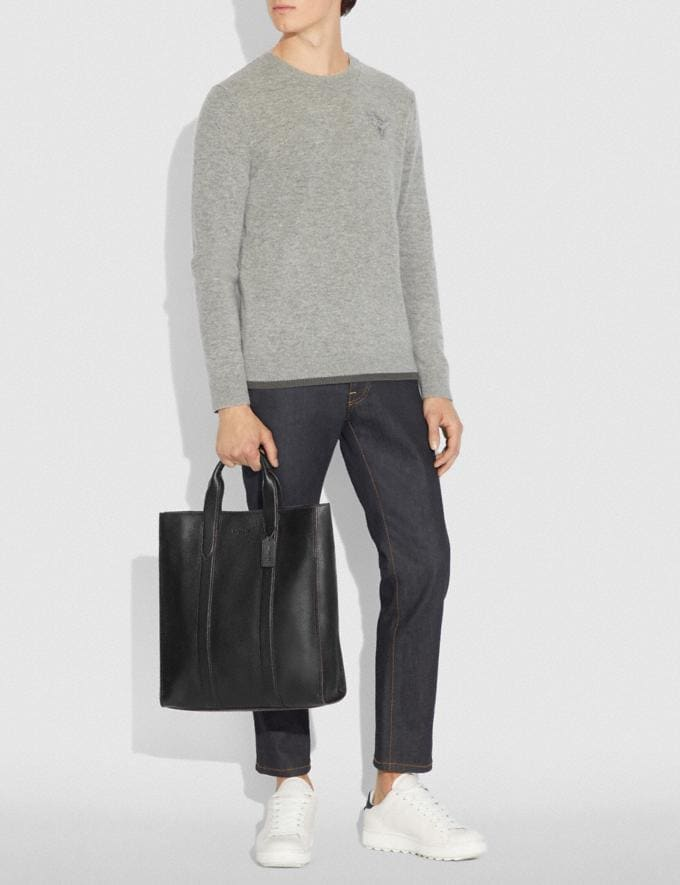 Coach Metropolitan Soft Vertical Tote Black/Black Antique Nickel Men Bags Totes & Duffles Alternate View 3