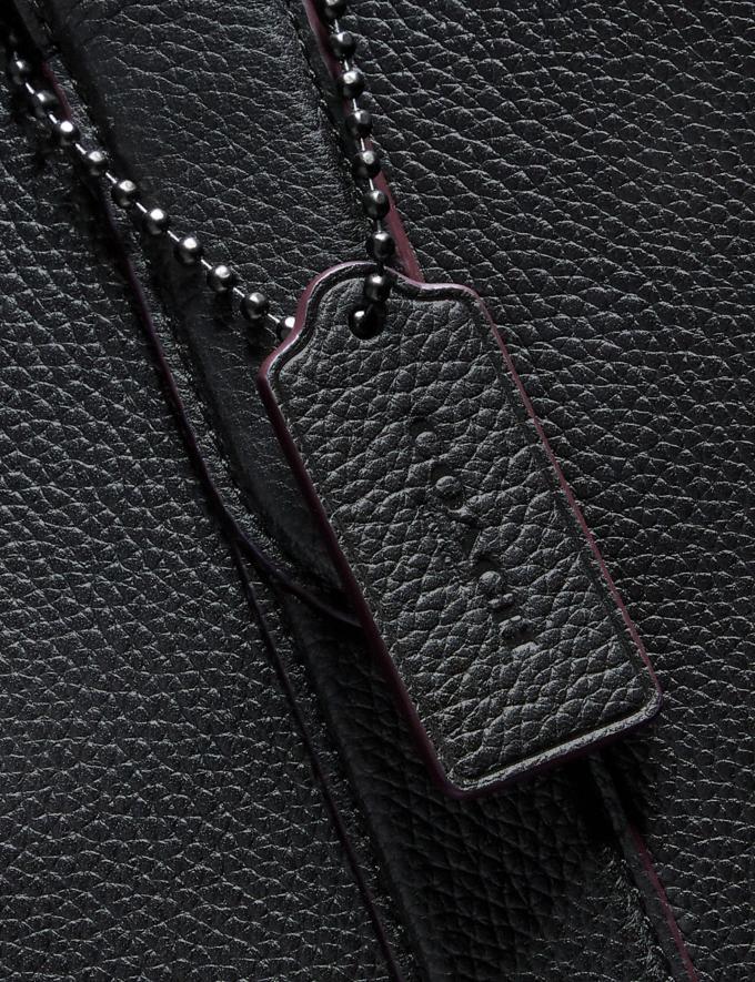 Coach Metropolitan Soft Vertical Tote Black/Black Antique Nickel Men Bags Totes & Duffles Alternate View 4