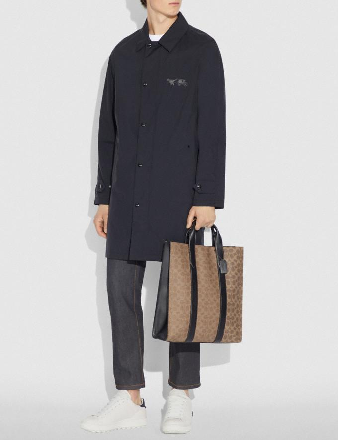 Coach Metropolitan Soft Vertical Tote in Signature Canvas Khaki/Black Copper New Featured Online Exclusives Alternate View 3
