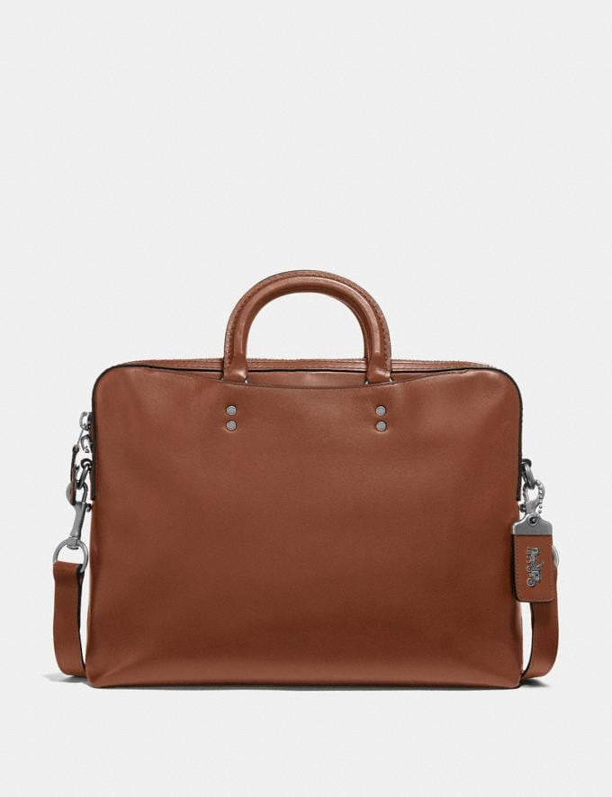 Coach Rogue Slim Brief Dark Sienna/Light Antique Nickel New Men's New Arrivals Bags