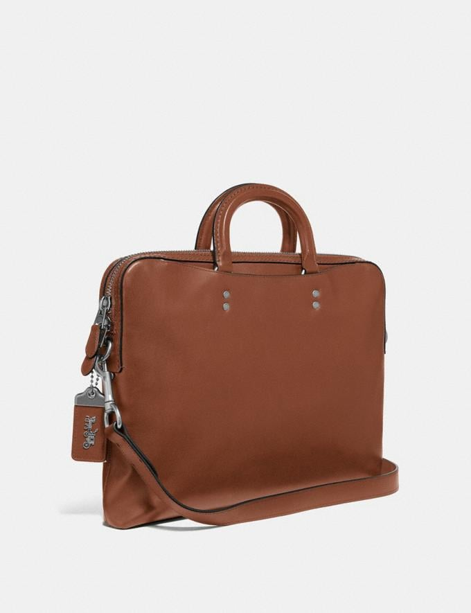 Coach Rogue Slim Brief Dark Sienna/Light Antique Nickel New Men's New Arrivals Bags Alternate View 1