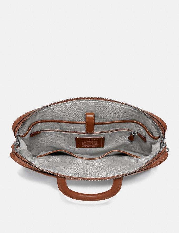 Coach Rogue Slim Brief Dark Sienna/Light Antique Nickel New Men's New Arrivals Bags Alternate View 2