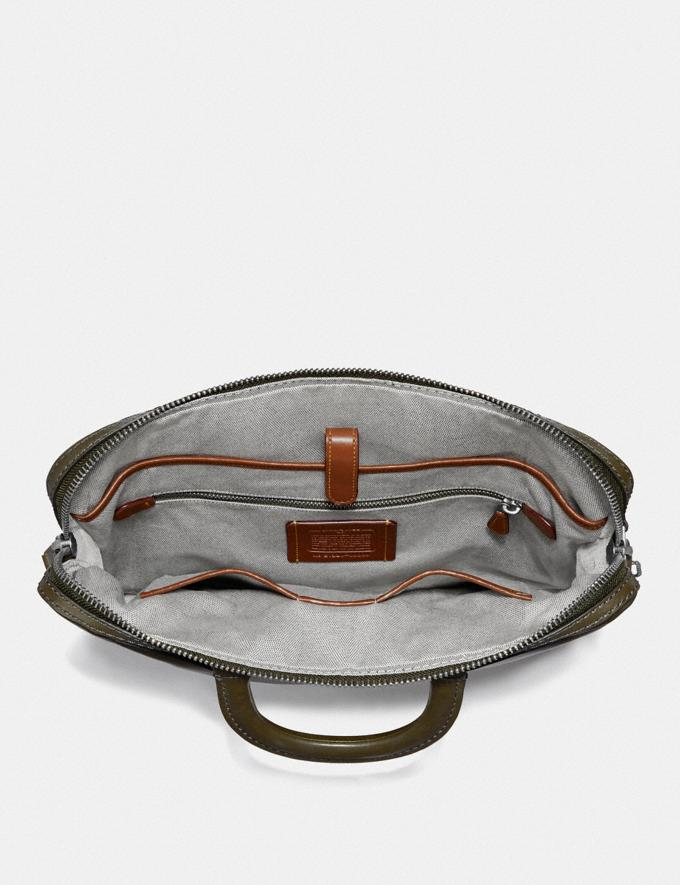 Coach Rogue Slim Brief Moss/Light Antique Nickel Women Collection Rogue Alternate View 2