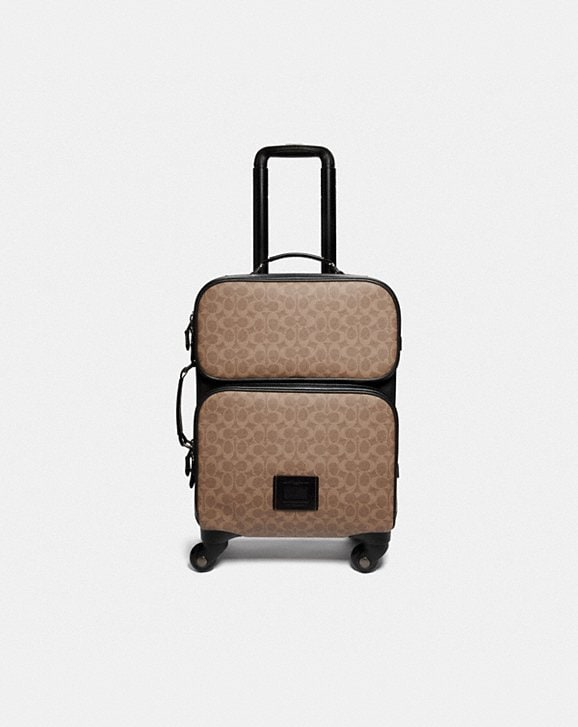 Coach ACADEMY TRAVEL WHEELED CARRY ON IN SIGNATURE CANVAS