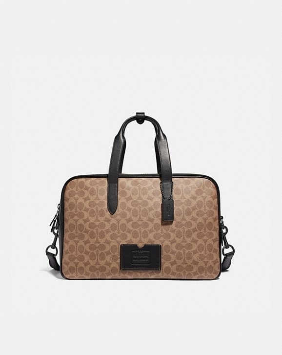 Coach ACADEMY TRAVEL DUFFLE IN SIGNATURE CANVAS