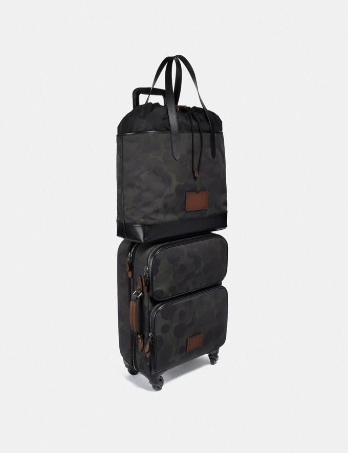 Coach Academy Travel Tote With Wild Beast Print Military Wild Beast/Black Copper Men Bags Totes & Duffles Alternate View 3