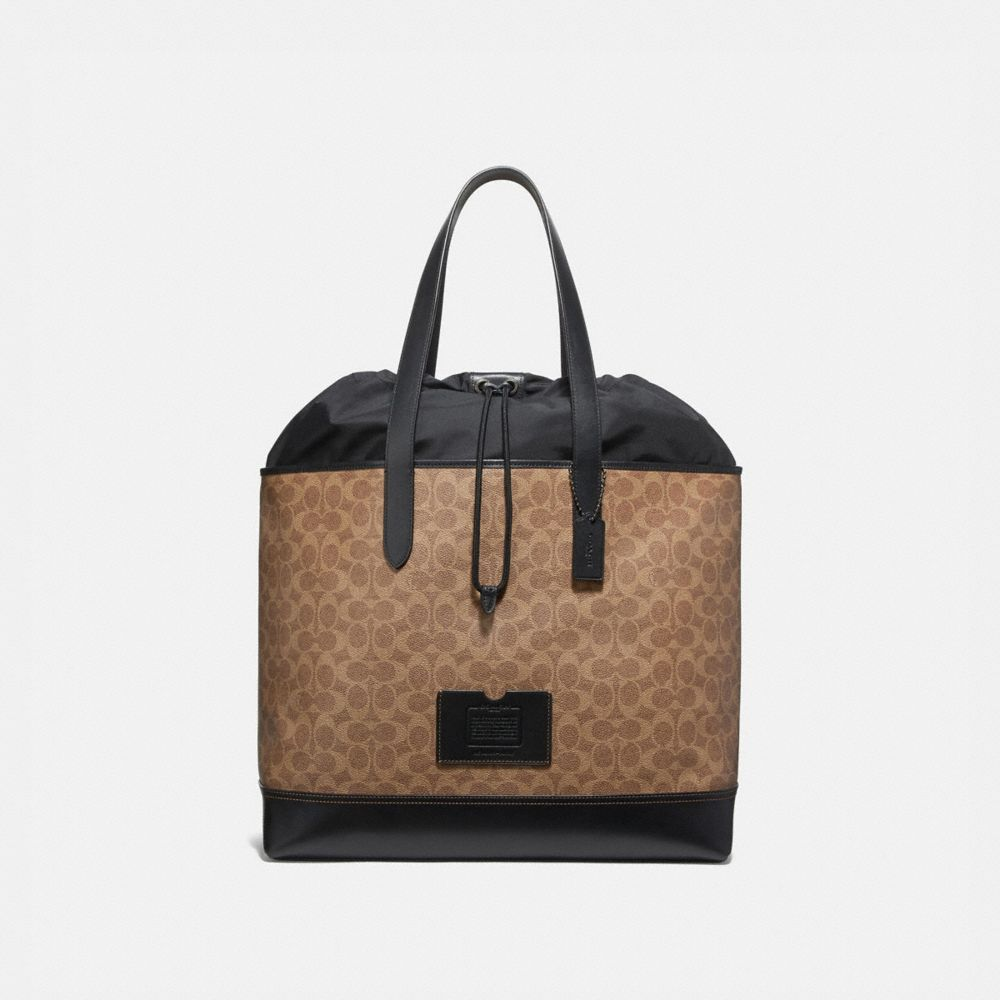 ACADEMY TRAVEL TOTE IN SIGNATURE CANVAS
