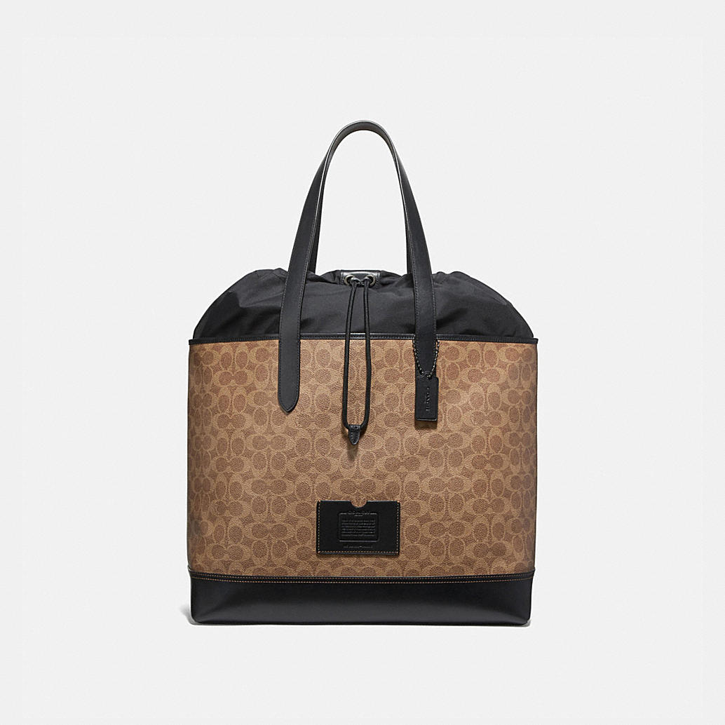 Academy Travel Tote In Signature Canvas by Coach