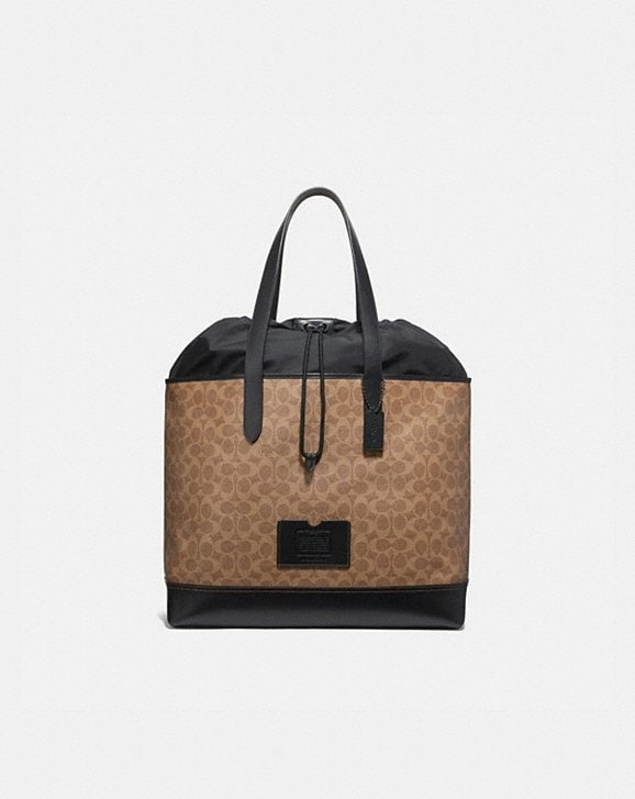 Coach ACADEMY TRAVEL TOTE IN SIGNATURE CANVAS