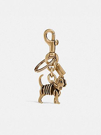 skeletal cat bag charm