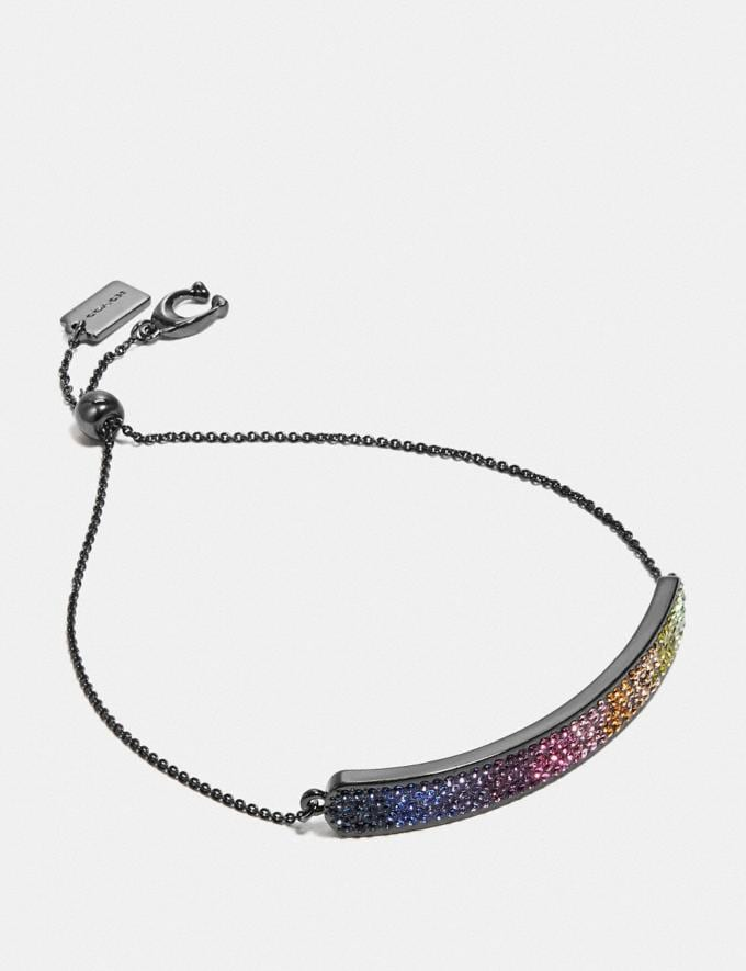 Coach Bar Slider Bracelet Multi/Black SALE Women's Sale Jewellery and Watches