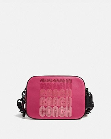camera bag with coach print