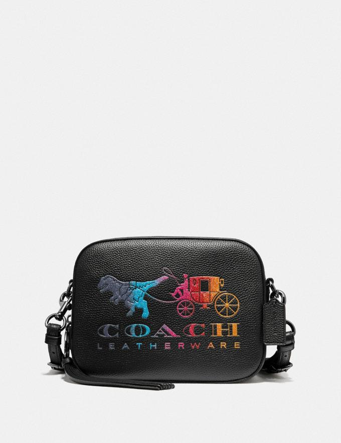 Coach Camera Bag With Rexy and Carriage Black/Gunmetal Women Bags Crossbody Bags