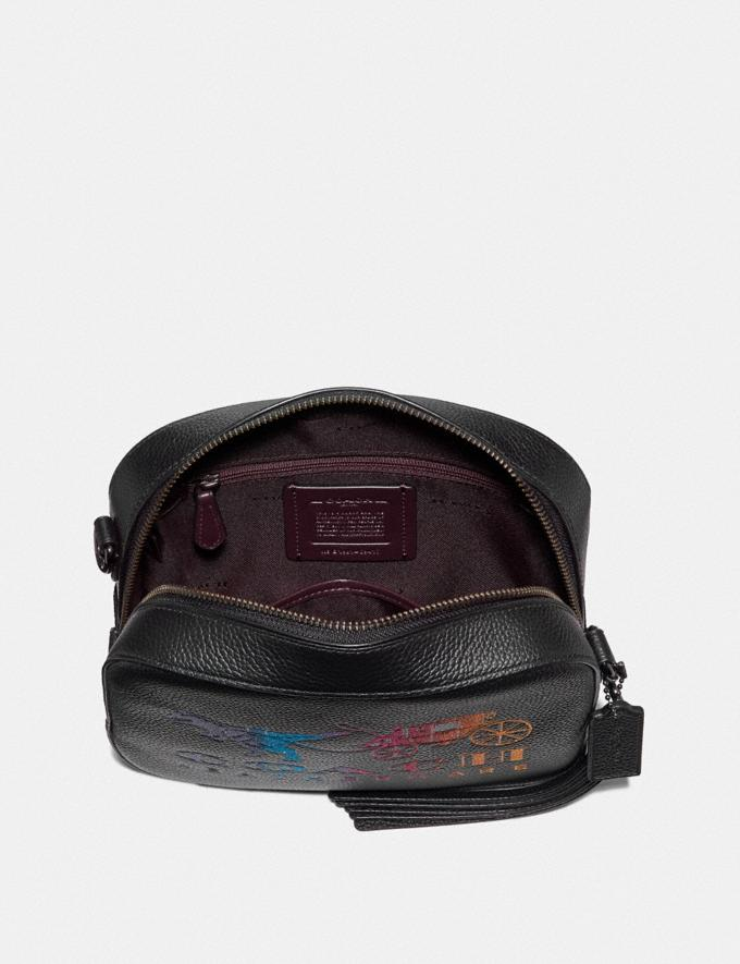 Coach Camera Bag With Rexy and Carriage Black/Gunmetal Women Bags Crossbody Bags Alternate View 3