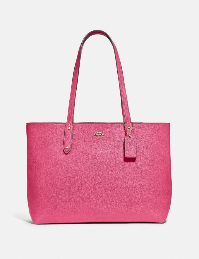 Coach Central Tote With Zip B4/Confetti Pink New Women's New Arrivals Bags