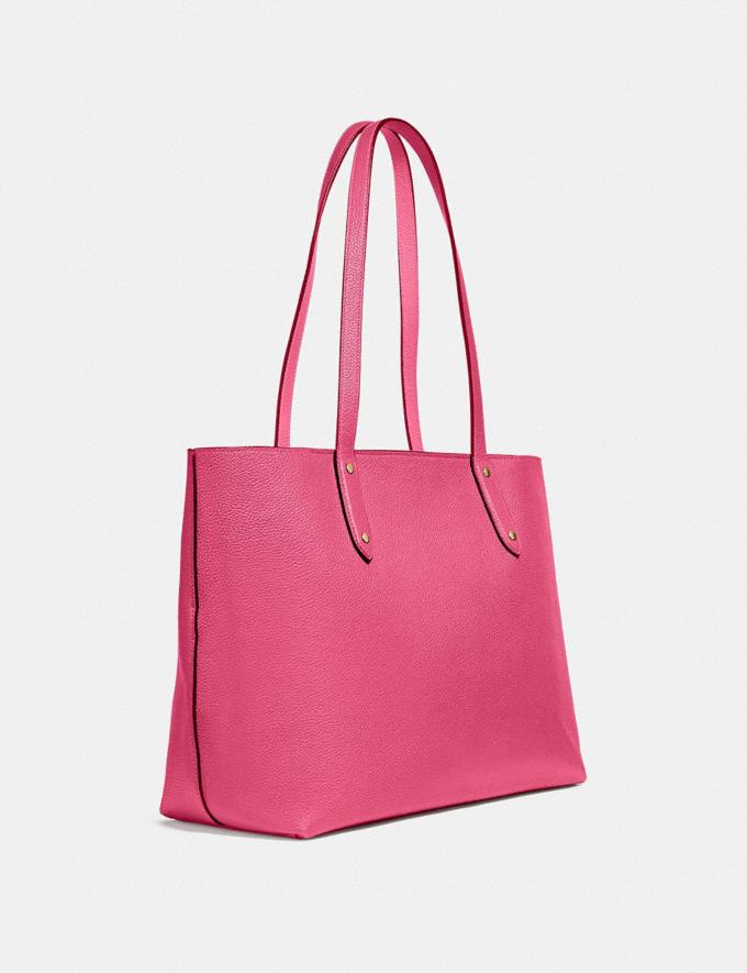 Coach Central Tote With Zip B4/Confetti Pink  Alternate View 1
