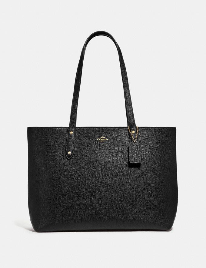 Coach Central Tote With Zip Black/Gold Women Edits Work