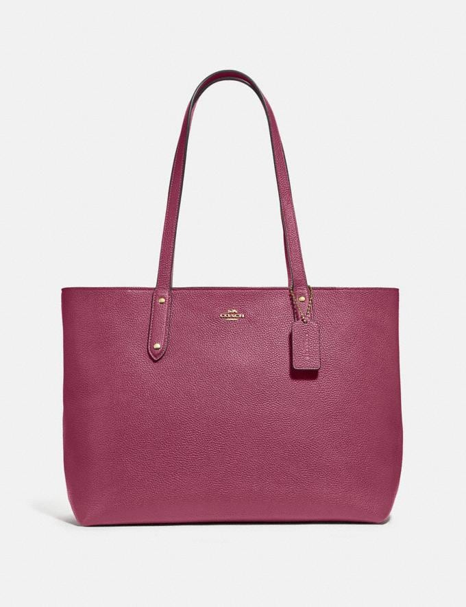 Coach Central Tote With Zip Gd/Dusty Pink Women Bags Totes