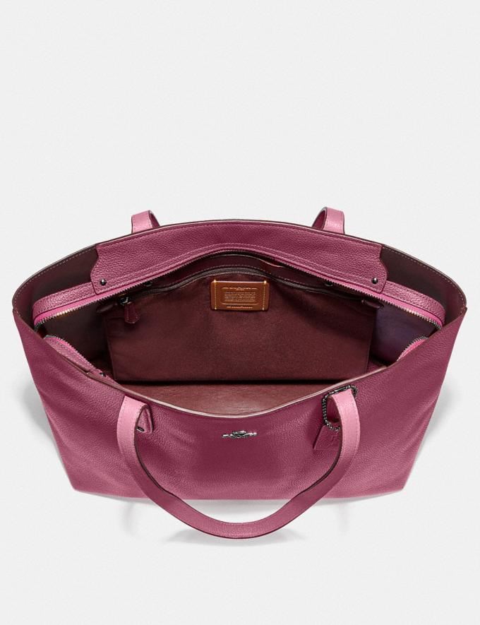 Coach Central Tote With Zip Gd/Dusty Pink Women Bags Totes Alternate View 2