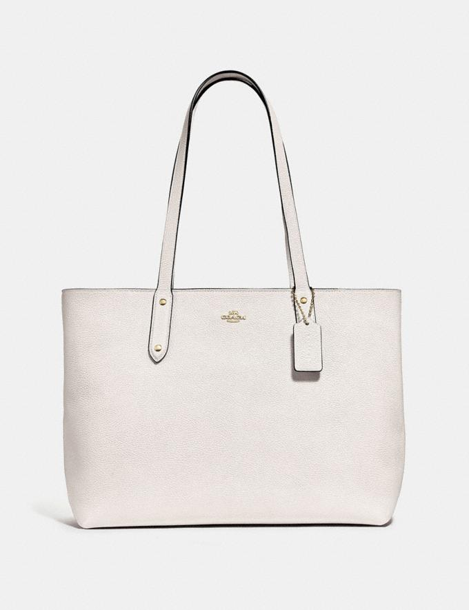 Coach Central Tote With Zip Chalk/Gold
