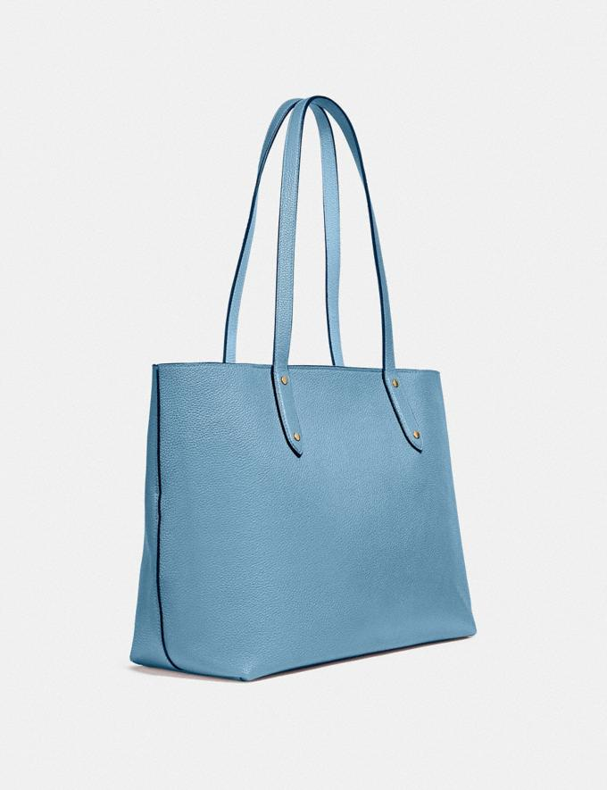 Coach Central Tote With Zip Gold/Pacific Blue  Alternate View 1