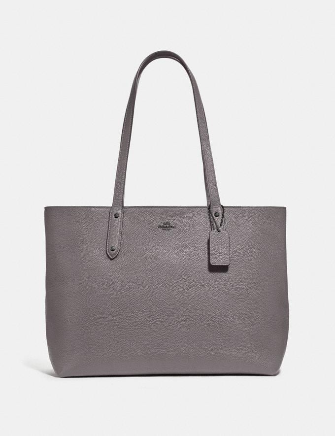 Coach Central Tote With Zip Gunmetal/Heather Grey Women Bags Shoulder Bags