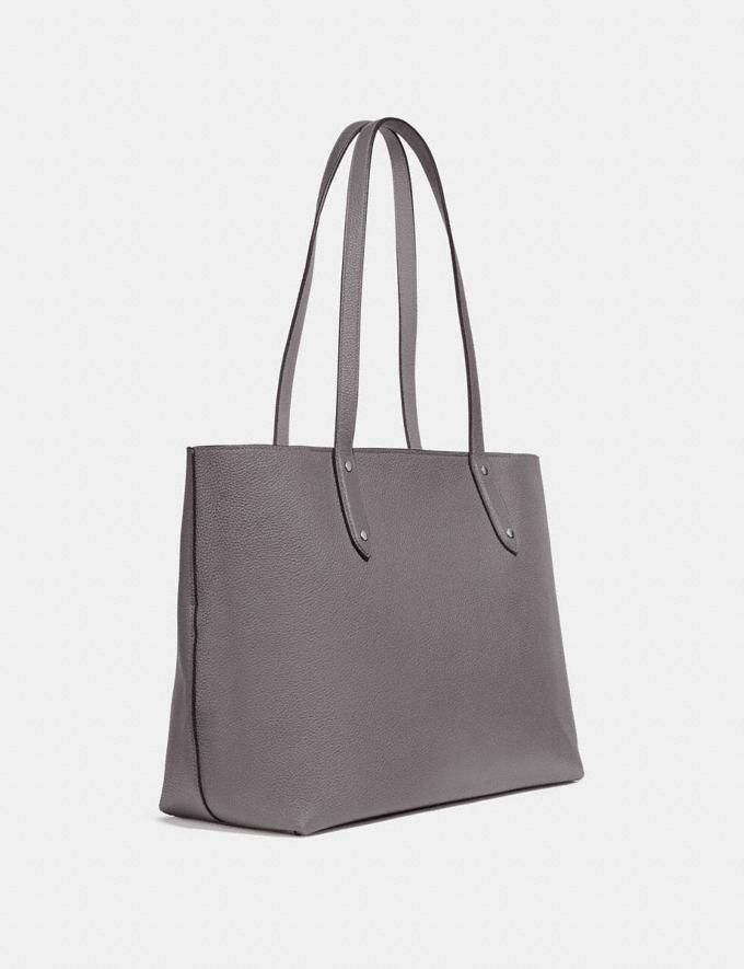 Coach Central Tote With Zip Gunmetal/Heather Grey Women Bags Shoulder Bags Alternate View 1
