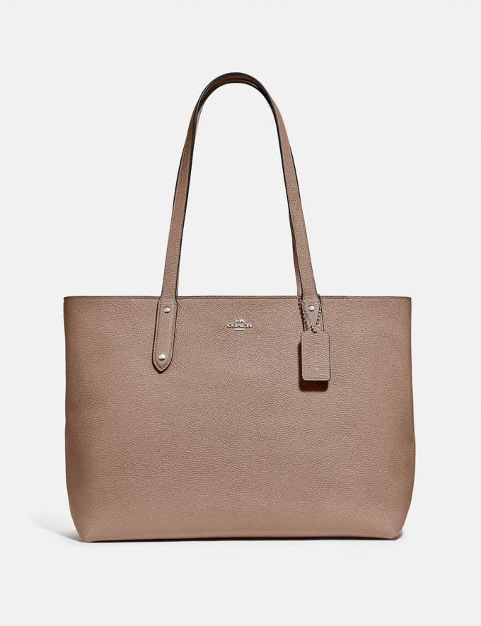 Coach Central Tote With Zip Lh/Taupe Women Edits Work