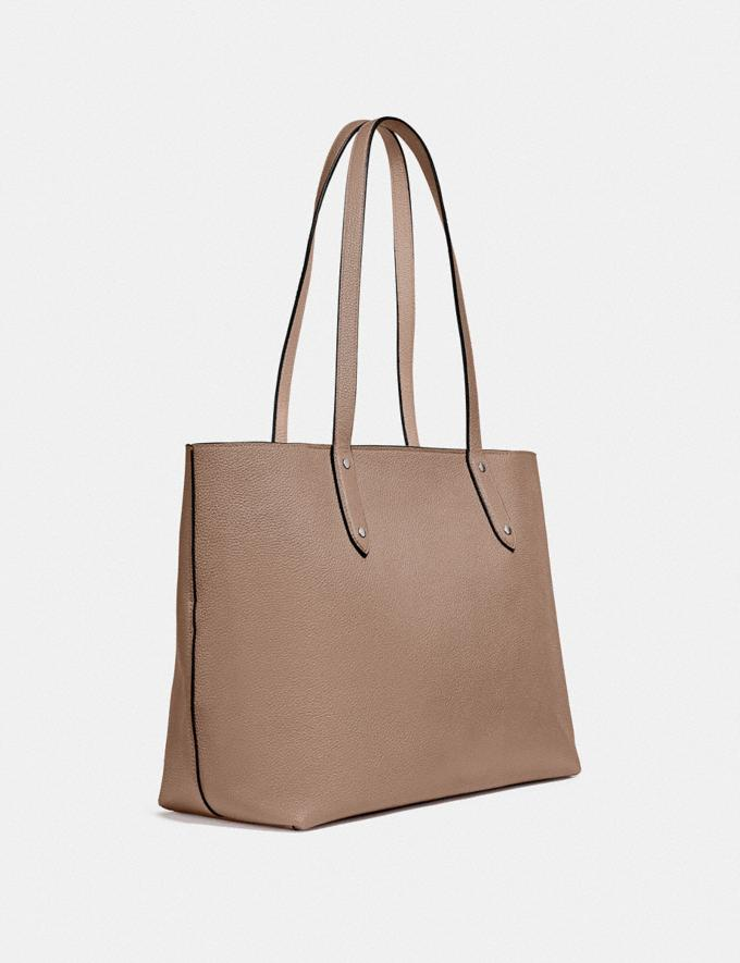 Coach Central Tote With Zip Lh/Taupe  Alternate View 1