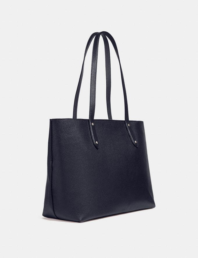 Coach Central Tote With Zip Silver/Midnight Navy Personalise For Her Bags Alternate View 1