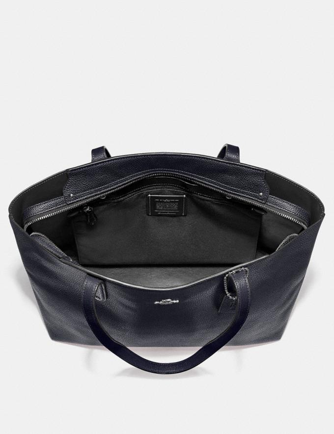 Coach Central Tote With Zip Silver/Midnight Navy Personalise For Her Bags Alternate View 2