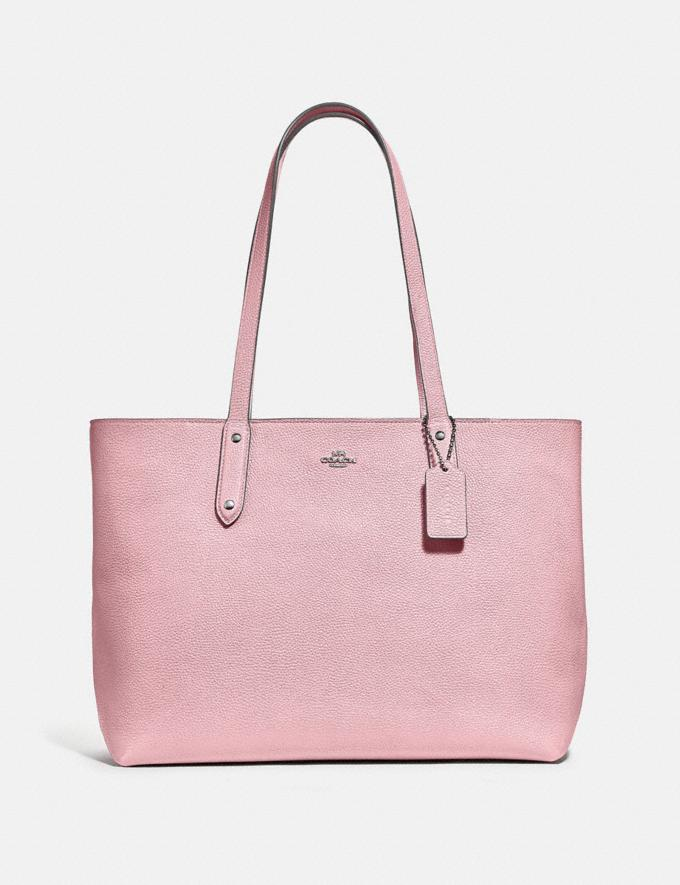 Coach Central Tote With Zip Pewter/Aurora New Women's New Arrivals