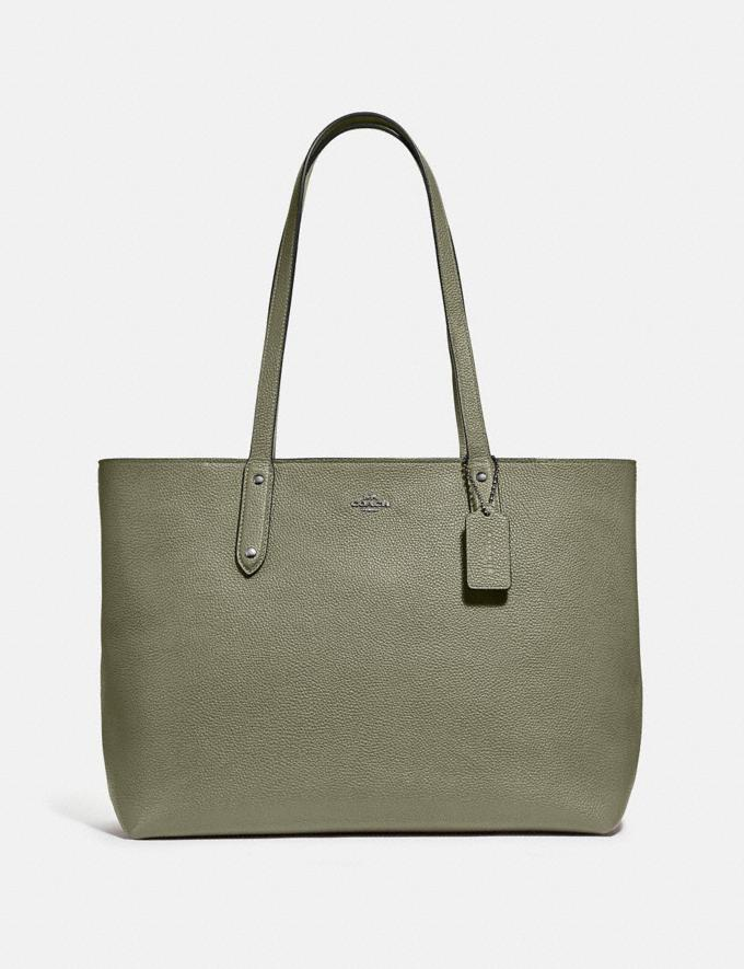 Coach Central Tote With Zip V5/Light Fern Women Bags Totes