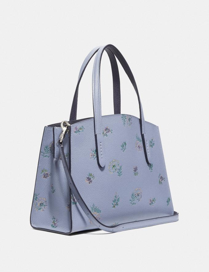 Coach Charlie Carryall 28 With Meadow Prairie Print Silver/Mist Women Bags Satchels Alternate View 1