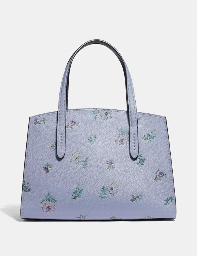 Coach Charlie Carryall 28 With Meadow Prairie Print Silver/Mist  Alternate View 2