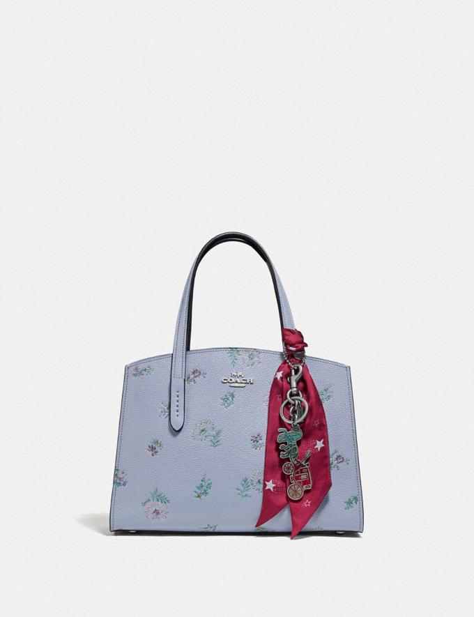 Coach Charlie Carryall 28 With Meadow Prairie Print Silver/Mist Women Bags Satchels & Carryalls Alternate View 4