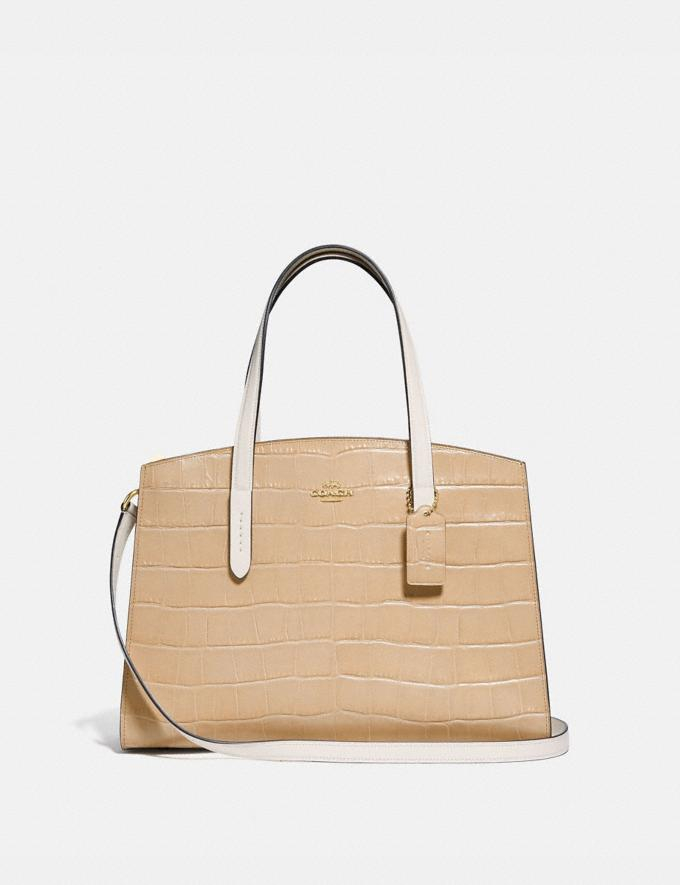 Coach Charlie Carryall Gold/Beechwood Multi New Featured Online Exclusives