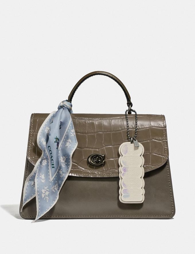 Coach Parker Top Handle 32 Pewter/Moss New Women's New Arrivals View All Alternate View 3
