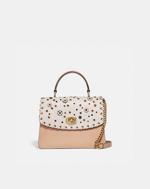 Coach PARKER TOP HANDLE WITH SCATTERED RIVETS