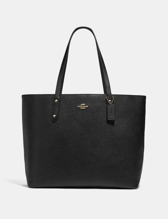 Coach Central Tote 39 Gd/Black