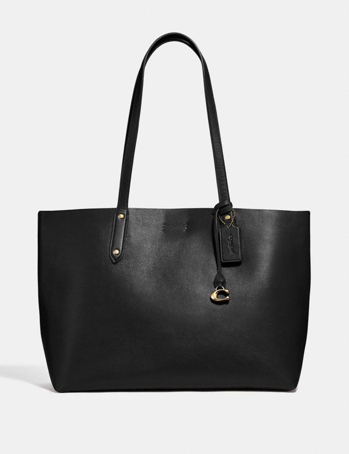 Coach Central Tote Black/Gold Women Edits Work